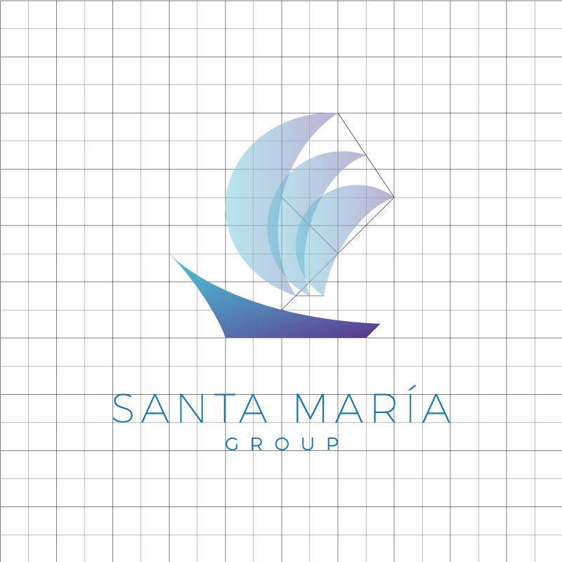 Estudio del logotipo Grupo Santa María